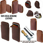 For LG Spirit H443 Slim Sleeve Genuine Real Leather POUCH Case Cover + Pen