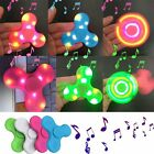 Bluetooth Speaker LED Light Anti Stress Hand Fidget EDC Hand Spinner Gyro Toys