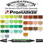 Winsor & Newton ProMarker Twin Tip Graphic Marker Pen - Brown & Green Colours