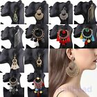 Vintage Women Lady Bohemian Fringe Long Tassel Chain Hook Dangle Earrings Gifts