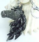 Unique Animal Horse Keychain Austrian Crystal Pendant 06535