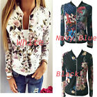 Newest Women Ladies Biker Celeb Camo Flower FLoral Print Zipper Up Bomber Jacket