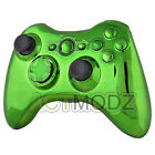 For Microsoft Xbox 360 Chrome Green Controller Housing case Buttons Tools