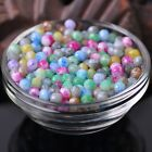 100pcs 6X4mm Faceted Glass Lacquer Rondelle Loose Spacer Beads Charms Findings