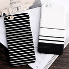 Ultra Slim Stripe Pattern Hard Back Case Cover for Apple iPhone X 8 6s Plus 5 SE