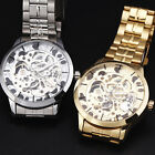New WINNER Brand Stylish Design Mens Skeleton Mechanical Watch Steel Army Cases