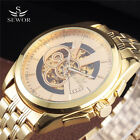 Luxury Casual Sewor Full Steel Mens Automatic Mechanical Watch Gold Outstanding