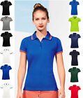 SOL'S Ladies  Tipped Cotton Piqué Polo Shirt - Premium Quality - Ladies Fit