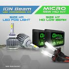 H7 55w HID Low Headlight Xenon Conversion Kit + H11 6000K LED White Fog Light