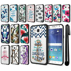 For Samsung Galaxy J7 J700 Hybrid Clear TPU bumper Case Phone Cover + Pen