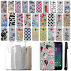 "For Alcatel TRU 5065 Stellar Pop 3 5"" Slim Sparkling Silver TPU Case Cover + Pen"