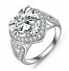 Women's Fashion Heart Shape Engagement Ring Wedding Ring Vintage Style R159