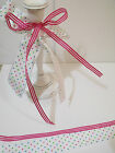 EASTER BONNET Duo - Spring Polka Dot / Pink Stripe - Luxury Wire Edged Ribbon