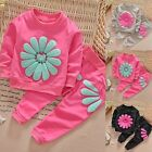 2PCS Toddler Kids Baby Girls Outfits Long Sleeve Dress Tops +Pants Clothes Set′