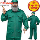 CA322 Mens Fidel Castro Cuban Dictator Army Military Communist Costume Outfit