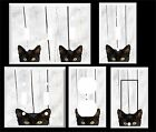 BLACK CAT GRAY BARN BOARD IMAGE BACKGROUND LIGHT SWITCH COVER PLATE
