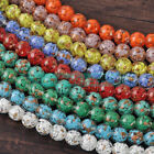 5pcs 12mm Round Lampwork Glass Charms Loose Spacer Beads Jewelry Findings DIY