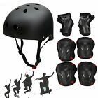 Youths Kids Skating Cycle Helmet with 6pcs Elbow Knee Wrist Pads Safety Scooter