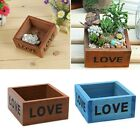 Natural square Wooden Succulent Plant Flower Bed Pot Box Garden Planter 10CM