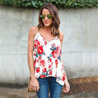 Fashion Summer Women's Casual Tank Blouse Sleeveless Vest Tops Floral Shirt DV