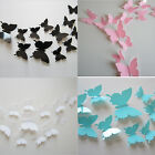 12Pcs 3D DIY Butterfly Design Art Decal Wall Stickers Home Room Decor Removable