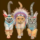 3 Cats in Native American Costumes Shirt, Native American Shirt - Small - 5X