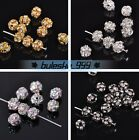 10/50pcs 6mm Ball Glass Crystal Rhinestones Charms Findings Loose Spacer Beads