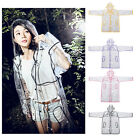 PVC Vinyl Ladies Transparent Clear Rain Coat Mac Raincoat UK Casual Festival