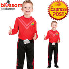 CK965 Simon Red The Wiggle Child Boys Kids Book Week Wiggles Dress Costume