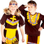 Western Red Indian Kids Fancy Dress Wild West Native American Childrens Costumes