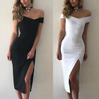 Kyпить UK WOMENS BANDAGE BODYCON COCKTAIL LADIES MIDI PARTY DRESS SIZE 6 - 14 на еВаy.соm