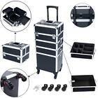 3/4in1 Aluminum Rolling Makeup Trolley Train Beauty Case Box Organizer Cosmetic