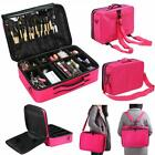 3 4in1 Aluminum Rolling Makeup Trolley Train Beauty Case Box Organizer Cosmetic