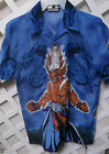 NWT ENJA KAZUKI demon slayer ANIME HAWAIIAN SHIRT BY MILLION GUY sz  L