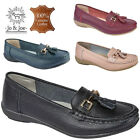 LADIES JO&JOE GENUINE LEATHER LOAFERS SLIP ON OFFICE WORK CASUAL WOMENS SHOES UK