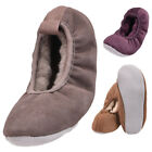 Lambland Ladies Genuine Sheepskin Lined Ballerina Style Slippers