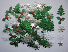 Packs of 50, 100 & 200 -  ASSORTED fabric Christmas embellishments