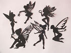 9 ASS BLACK TOOTH FAIRY FAIRIES CASTLE DIE CUT TINKERBELL SILHOUETTE  any colour