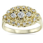 Women's Antique 14K Yellow Gold 1/2ct Diamond Right Hand Ring