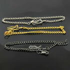 Free Post New Gold Silver Black 3 Color Plated Pocket Watch Parts 31cm Chain
