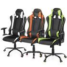 Executive Swivel Office Chair Race Car Style Bucket Seat High Back Leather Q2R3