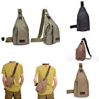 Men Fashion Outdoor Tactical Canvas Shoulder Bag Chest Satchel Wide Strap Bag