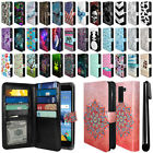 For LG K8V VS500 All-In-One Premium Leather Wallet Cover Case + Pen