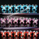 6 PCS Bridesmaid Prom Butterfly Turquoise Red Pink Crystal Hair Pins Tiara H020
