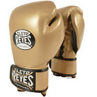 Cleto Reyes Lace Up Hook and Loop Hybrid Boxing Gloves - Solid Gold
