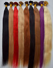 "20""-26"" 100s 50g Straight Remy Human Hair Nail U Tip Fusion Keratin In Extension"