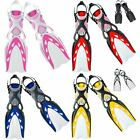 Mares X-Stream Adjustable Open Heel Scuba Diving Fins Flippers with ABS Straps
