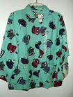 NWT NIGHT PALS COTTON FLANNEL PAJAMA SET COFFEE CUP PRINT WOMENS S M L or XL