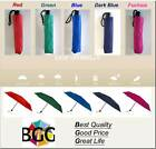 colored umbrellas - BGG Compact Folding Easy Umbrella Windproof Sun Rain Anti UV various Colors Nwt