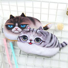 Practical Simulated Cat Flannel Pencil Bag Student Cute Cat Stationery Bag CA